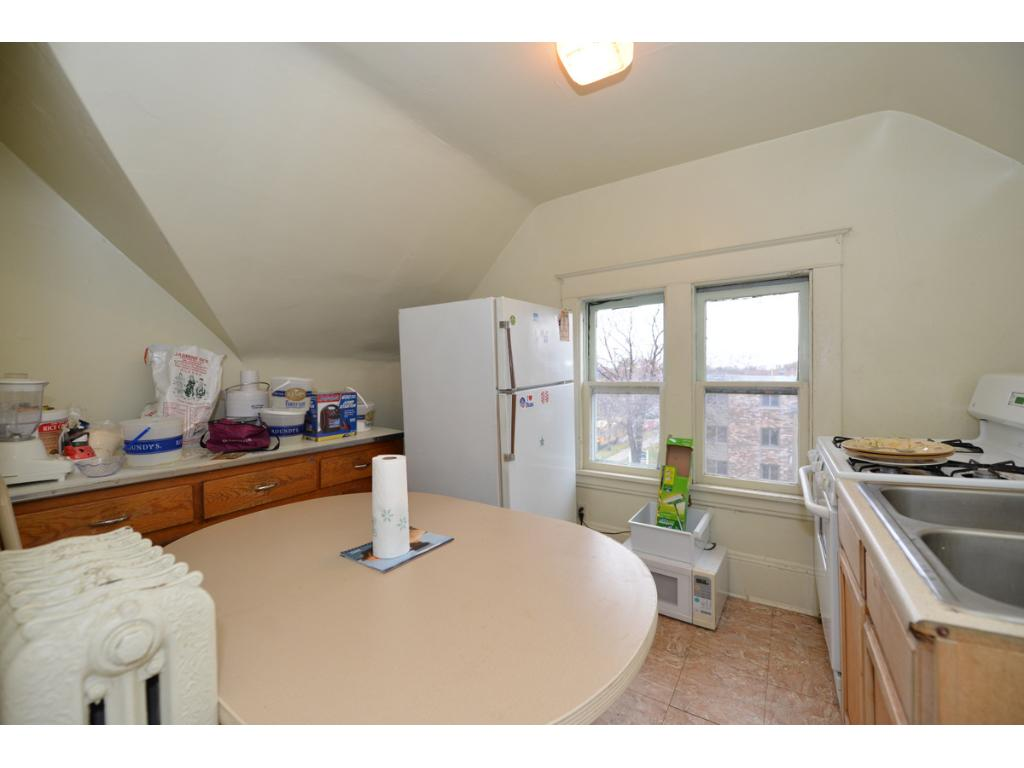 3rd floor kitchen is smallish but very cozy.