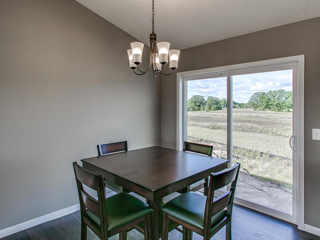 Dining room over looks 0.34 acre lot!