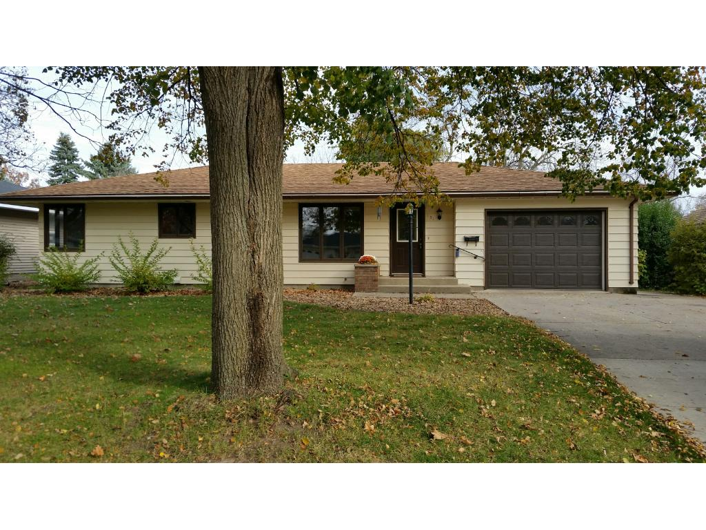 Attractive rambler style home on a newly rebuilt street just few steps to a city park and close to schools.