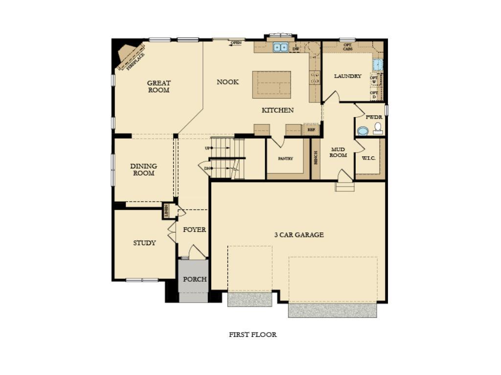 Main level layout