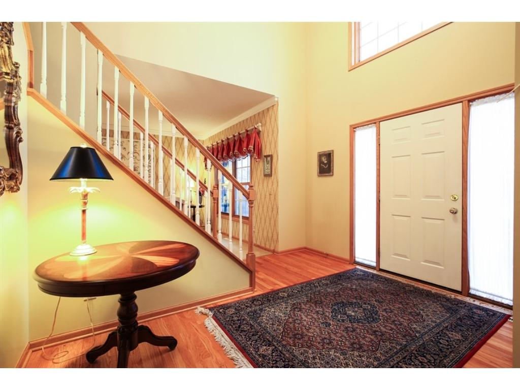 Huge 20x15 family room, with high ceilings and gas fireplace. Cozy up, winter's coming!