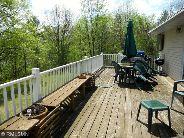 Large deck over looking the lake