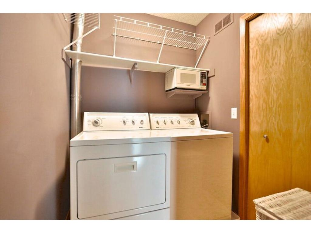 Laundry room right off of kitchen
