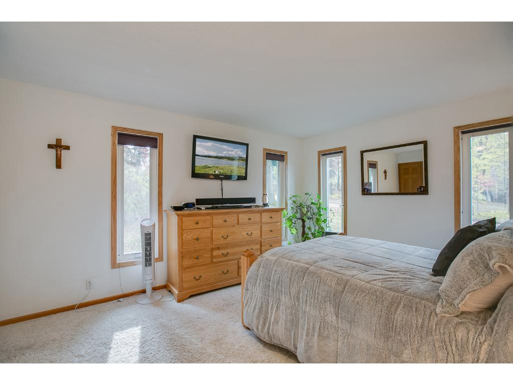 Master bedroom offers plenty of space and natural light!