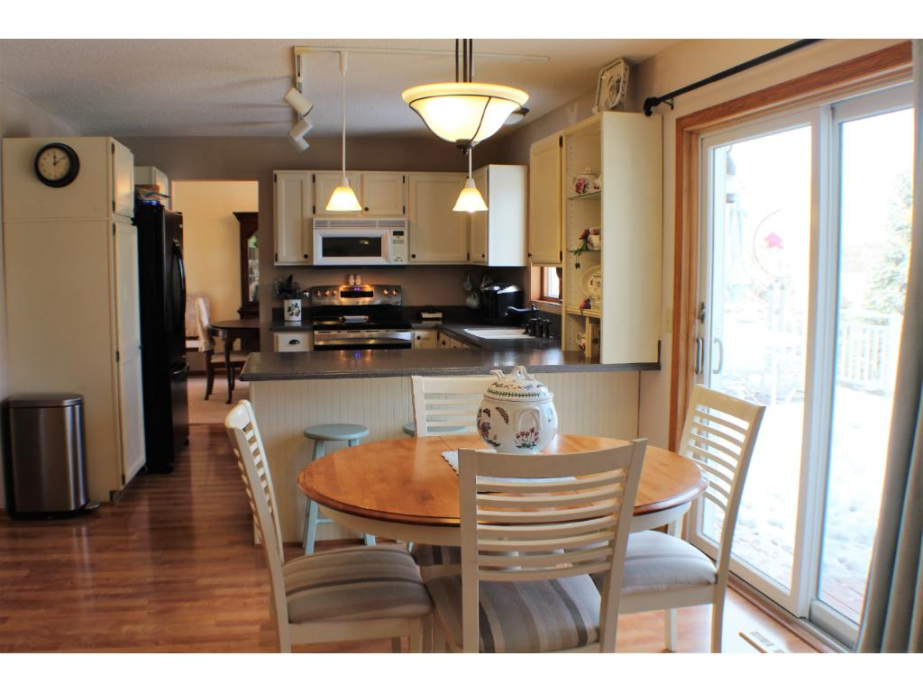 Easy access to large deck, Anderson patio doors and new front door.