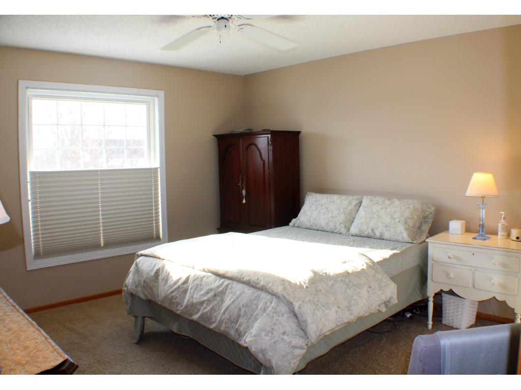 master bedroom with roomy closet and private bath. All 3 BRs to have new carpet prior to closing!