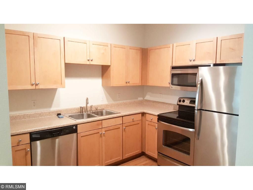 Large kitchen with SS appliances