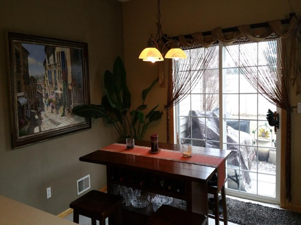 Nice dining space opens to living room and private patio - great for relaxing