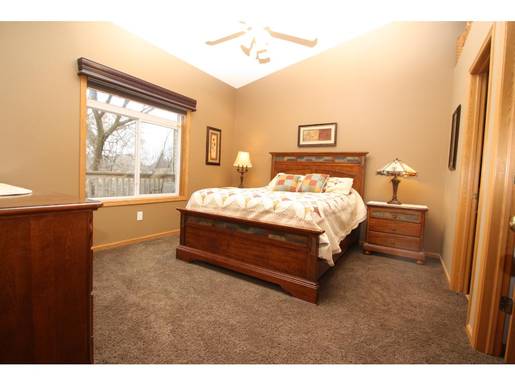 Gorgeous views, vaulted ceiling, walk in closet and en suite master bath!