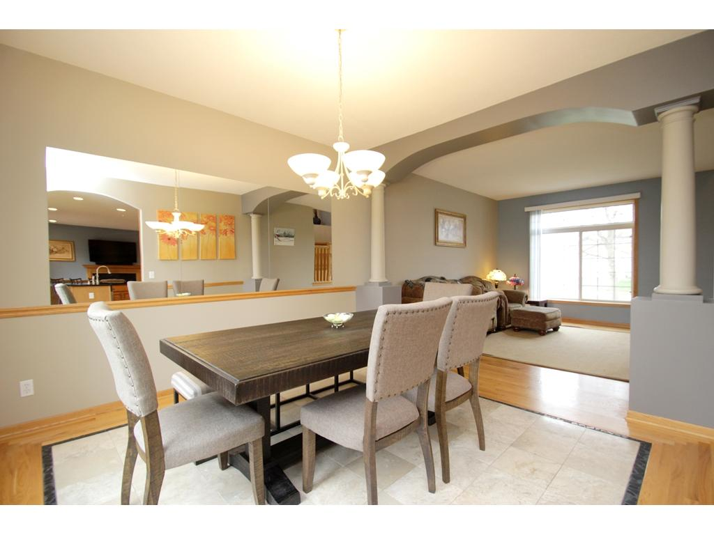 Formal dining leads into the front facing living room!