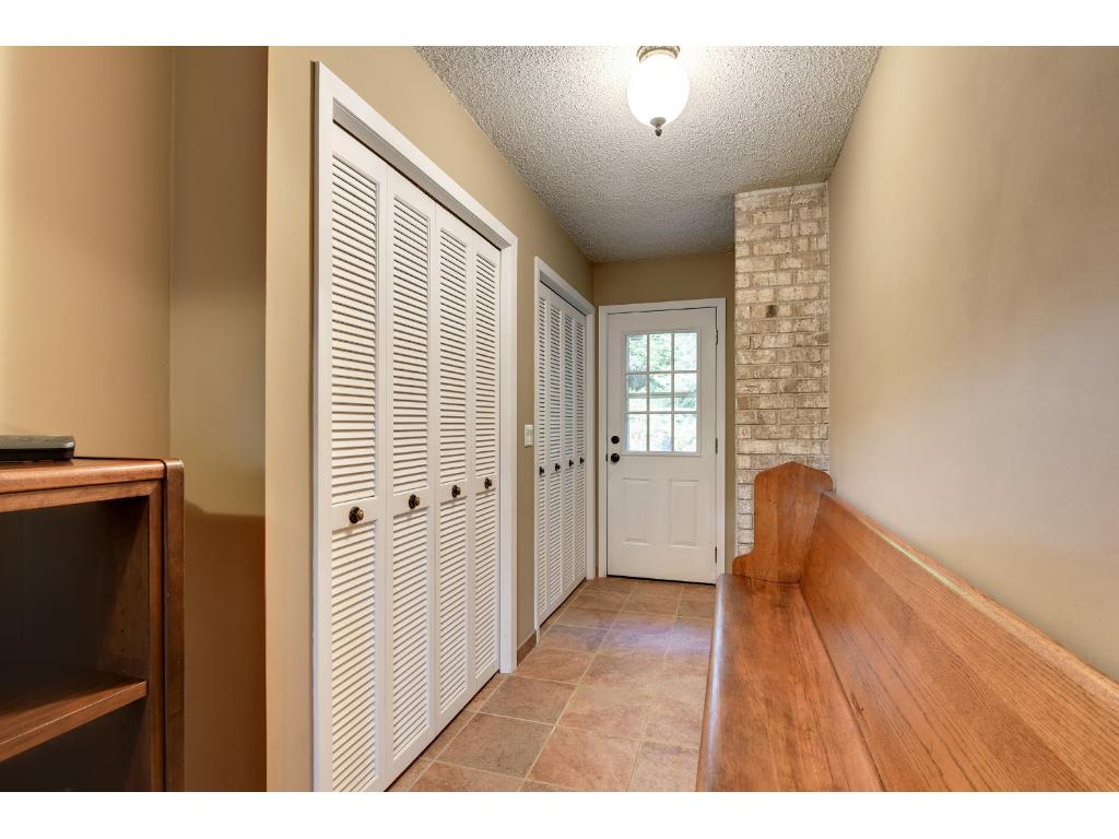 Nice sized front Entry Mudroom Area for Seasonal Coats and storage.