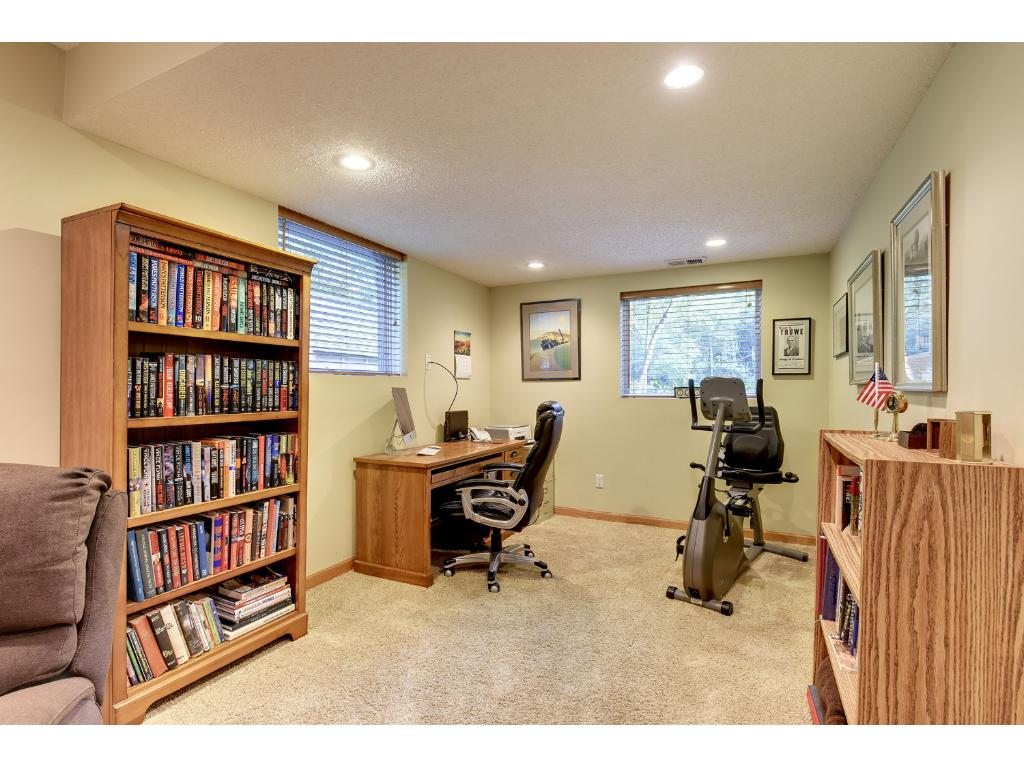 Lower Level Office Area that used to be a 4th Bedroom.  Buyers can decide long term if they want to convert this space back to a 4th with the great lighting.