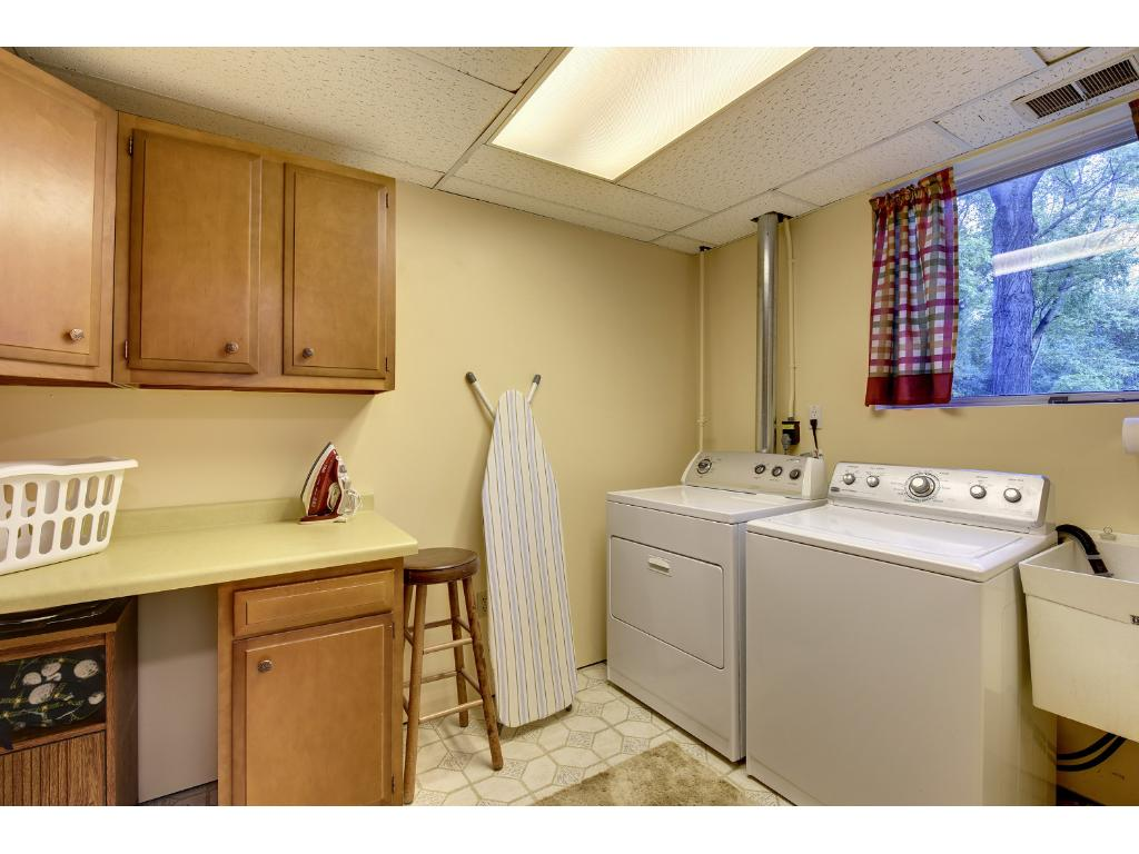 Lower Level Full Laundry room with Storage.