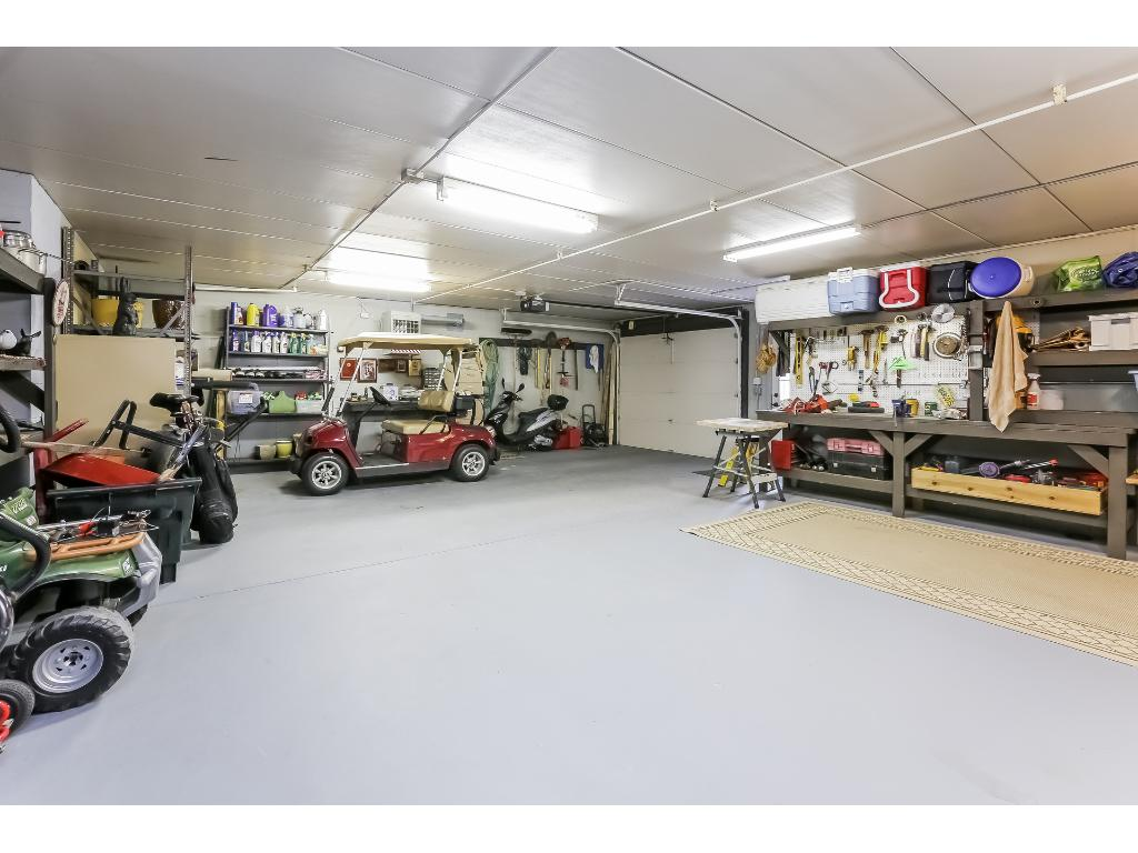 Lower heated garage