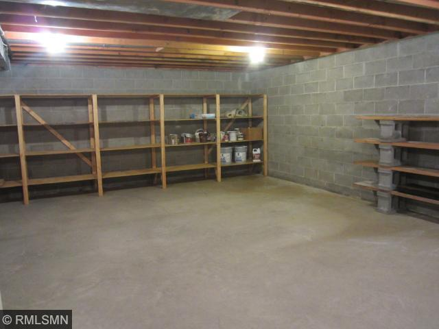 Plenty of additional storage in the lower level unfinished portion.
