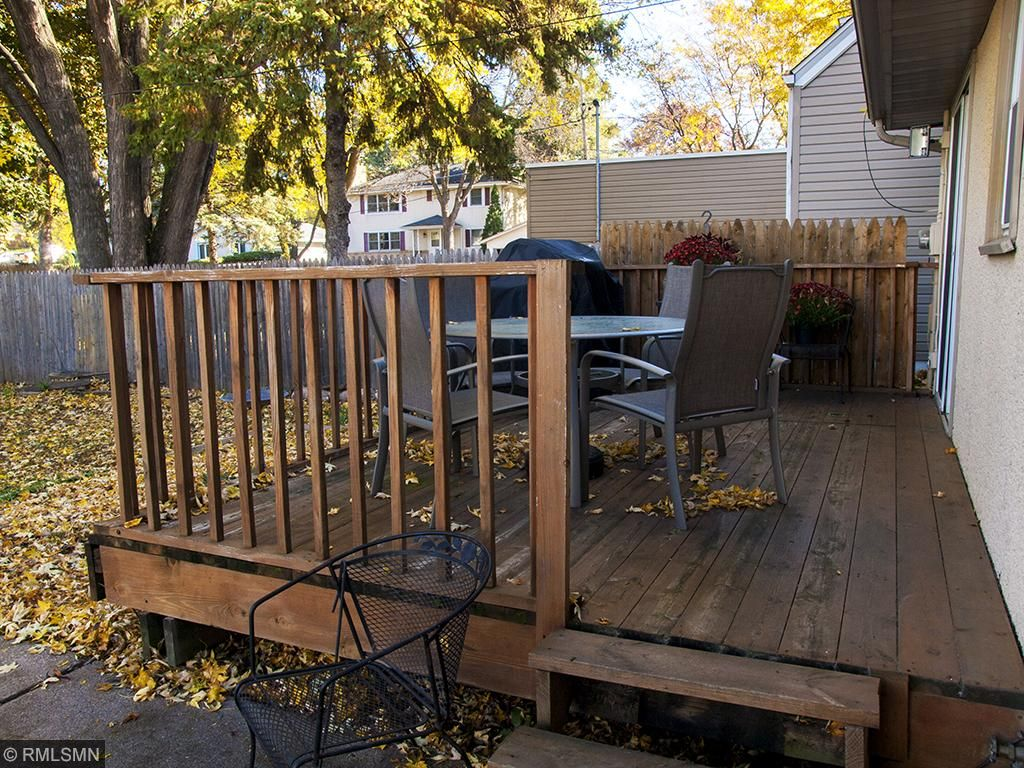 Deck off the back of the house- plenty of room for furniture and large grill