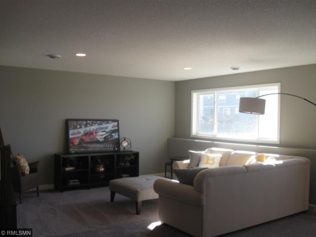 huge lower level family room with look out windows.  Awesome for game day, and entertaining friends and family