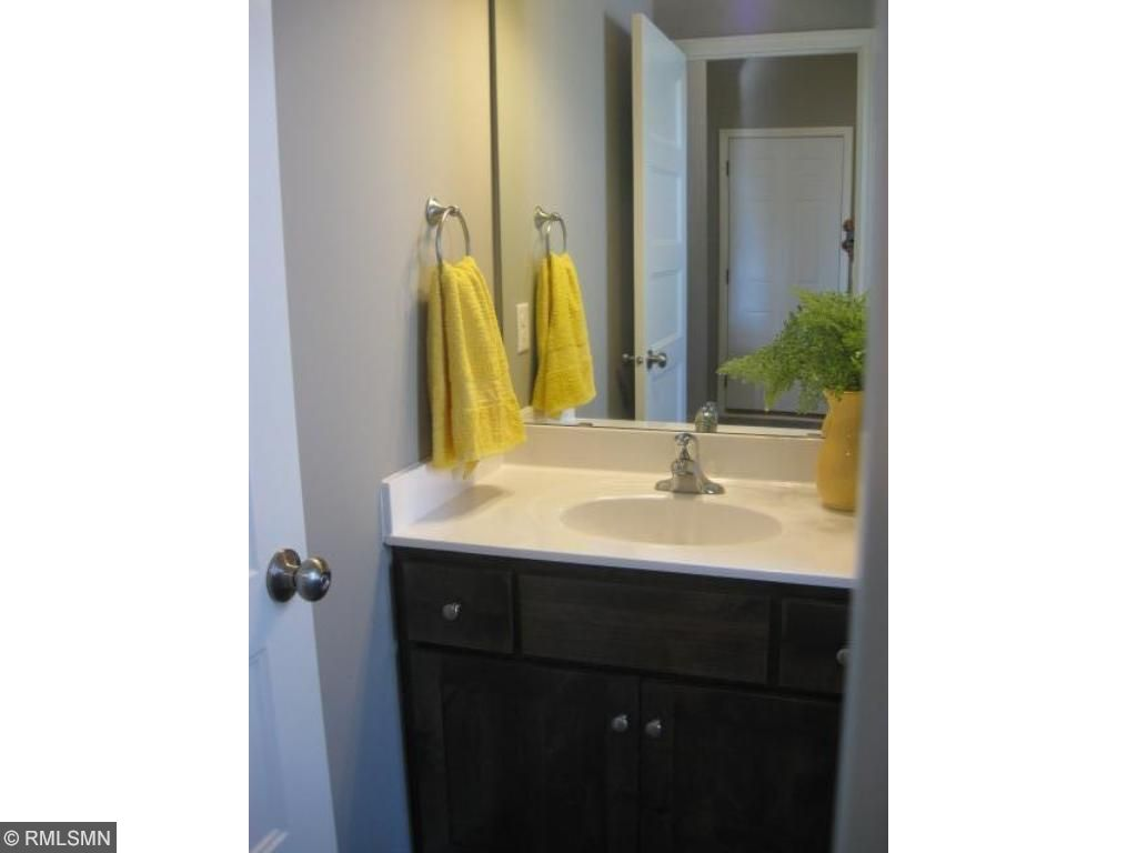main level powder room is easily accessible from the garage and mud room.  No need to run through the house!