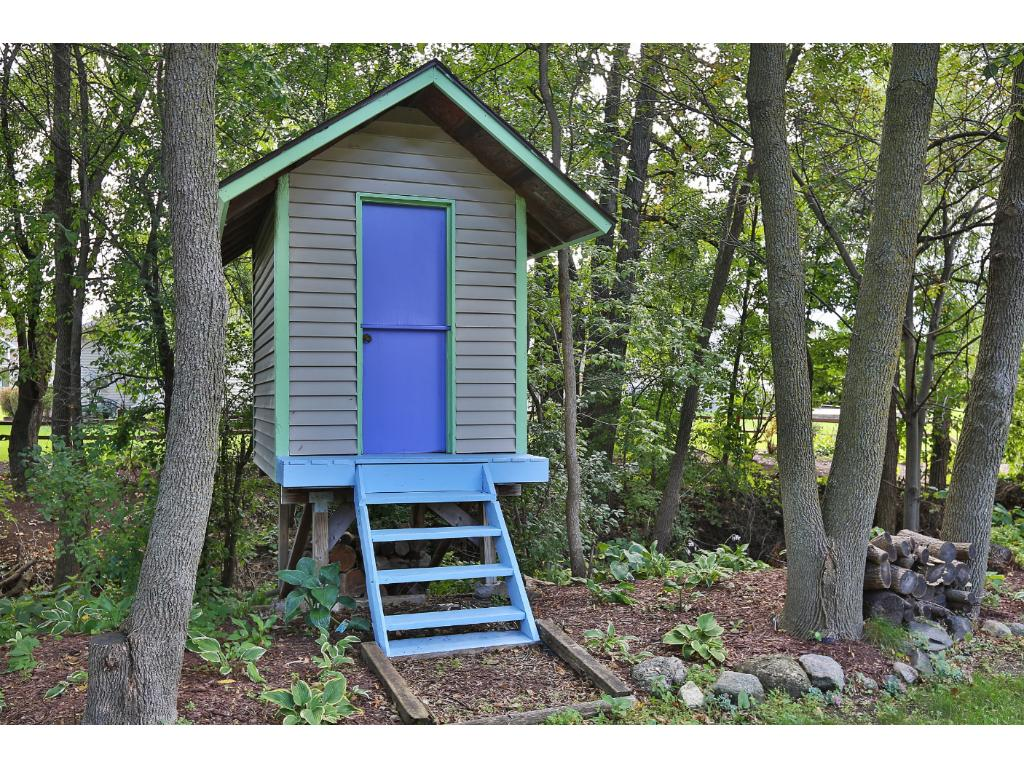 A playhouse for the kids!
