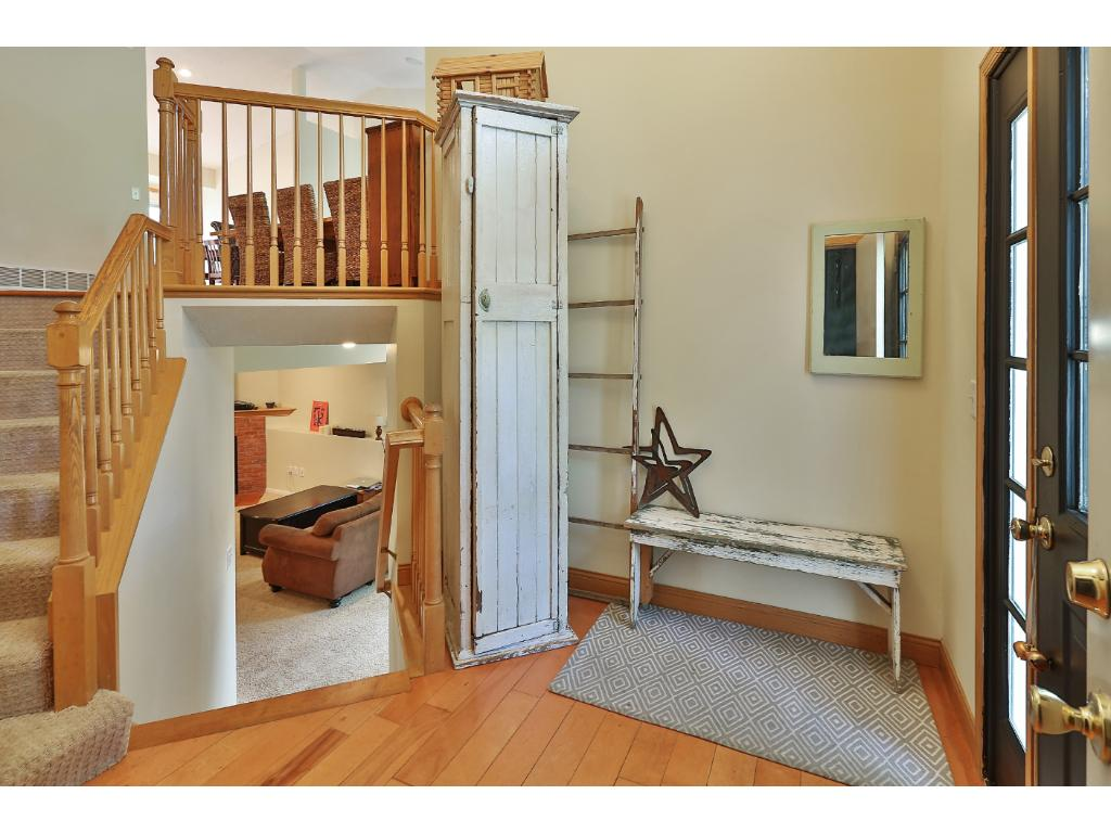 This is not your typical split level home! A large foyer landing greets you as you enter the home.