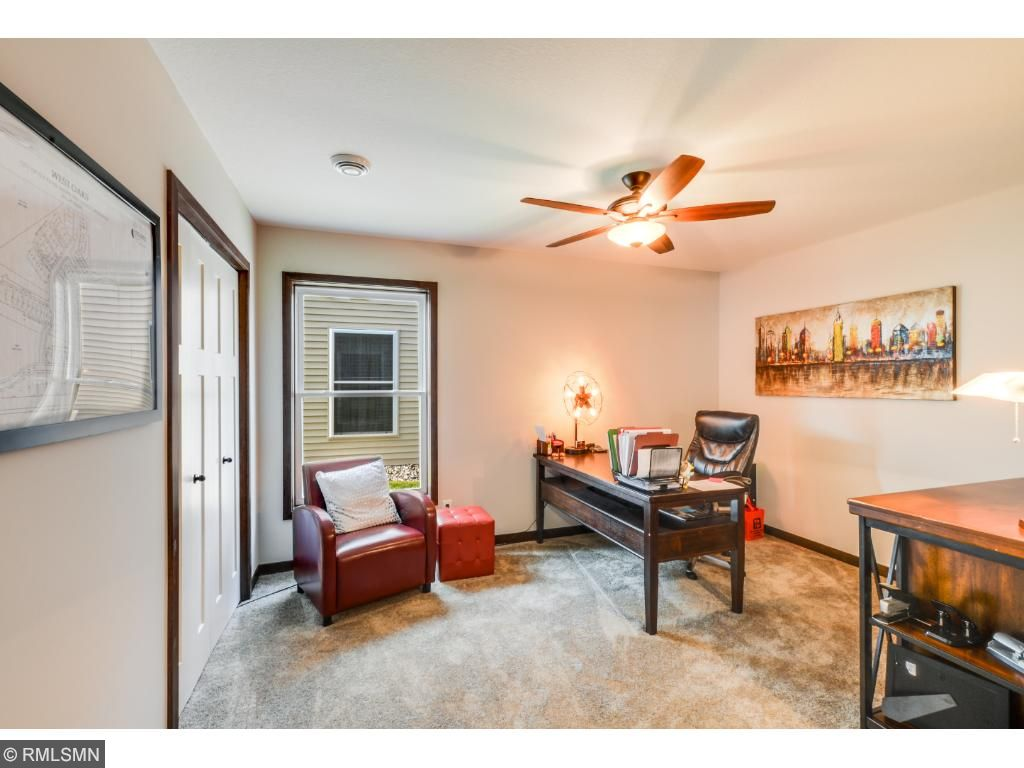 Den/guest bedroom is 13x11 and has closet organizers for storage.  The full guest bath is located across hall, providing privacy for guests.