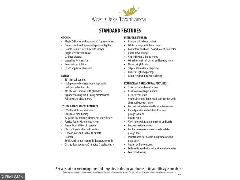 Standard Features