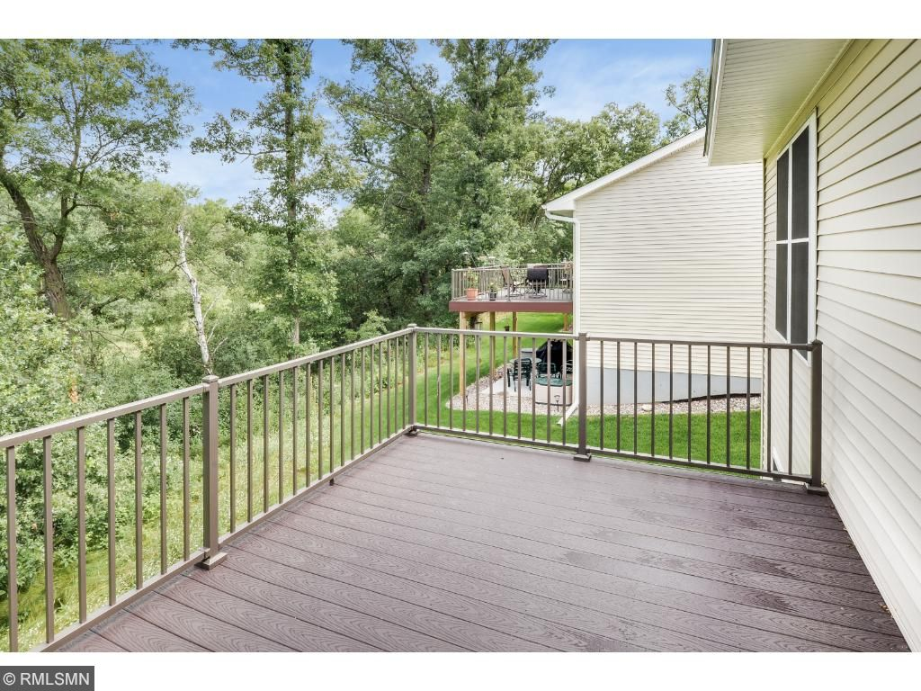Deck off of the Sunroom is perfect for Grilling or Outdoor Dining.