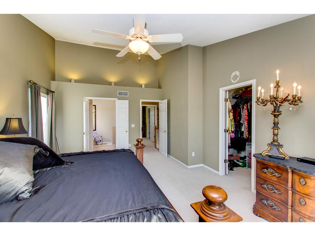 Master suite with vaulted ceilings !!!