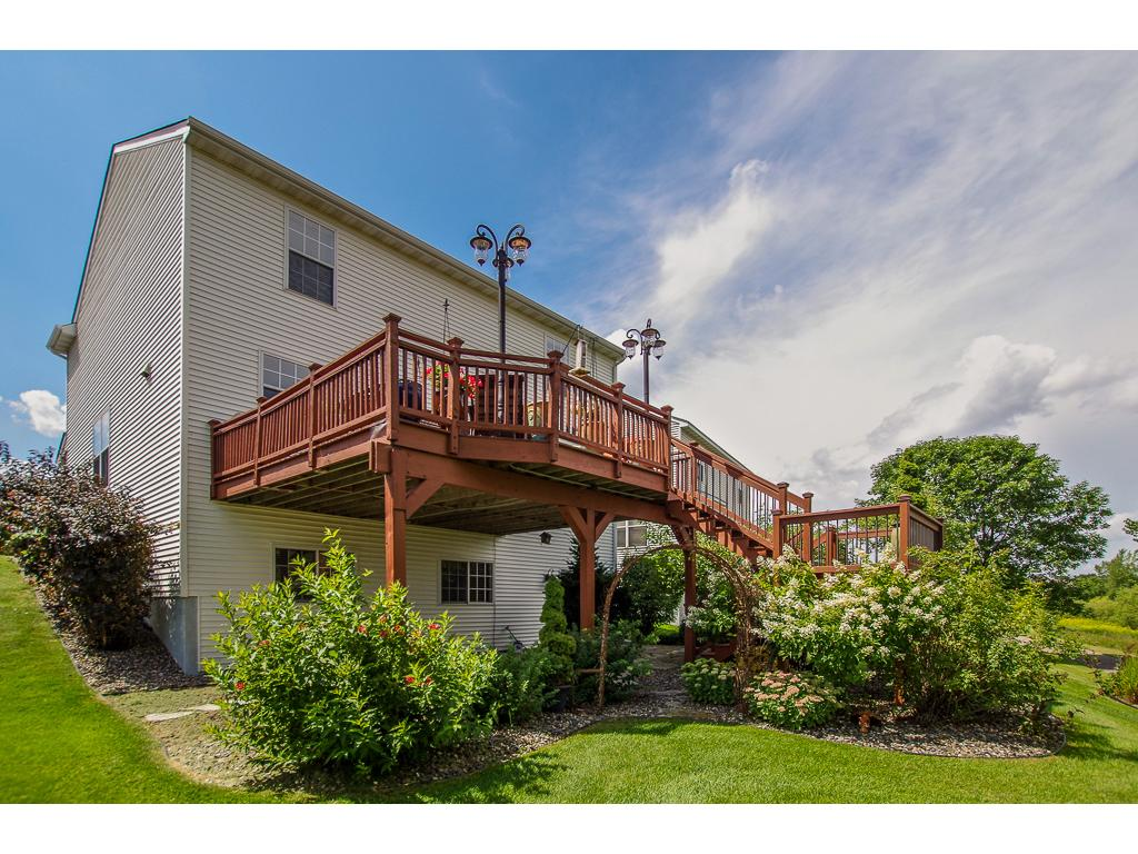 Rear deck and patio perfect for family time or entertaining!