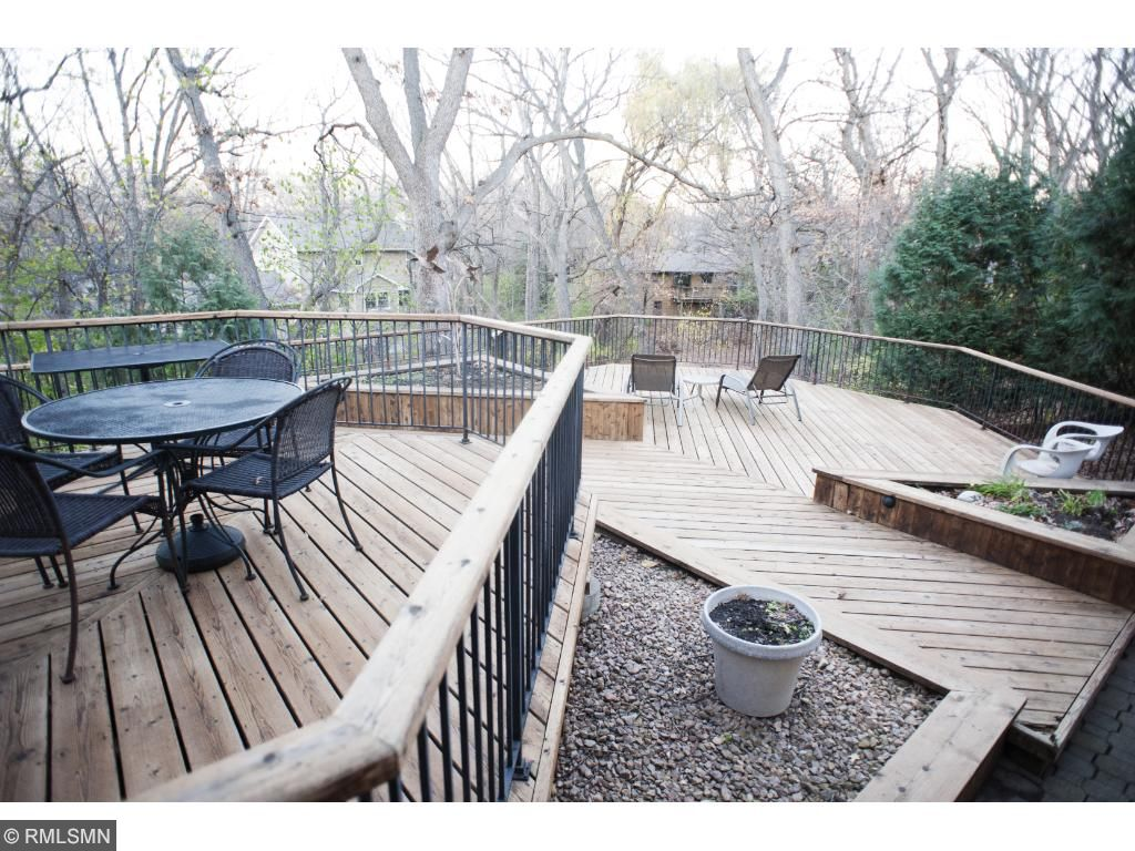 Large custom deck.  This deck was just refinished and treated this fall.  Gorgeous and large - great for entertaining.