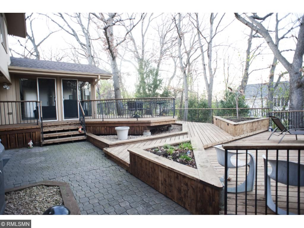 Paver patio off the main floor family room makes for a great area to grill!