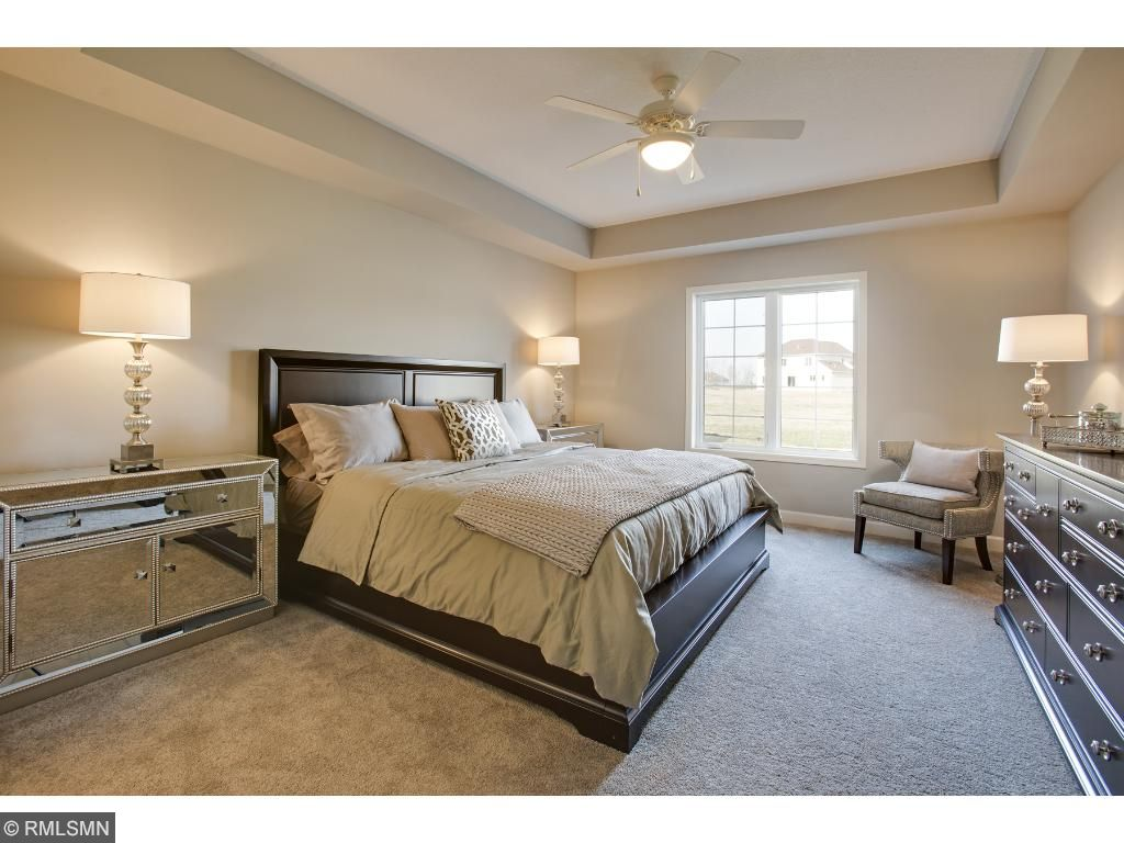 Owners Suite; for illustrative purposes only. Photos are from our model home.