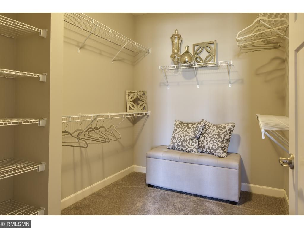 Owners Walk-In Closet; for illustrative purposes only. Photos are from our model home.