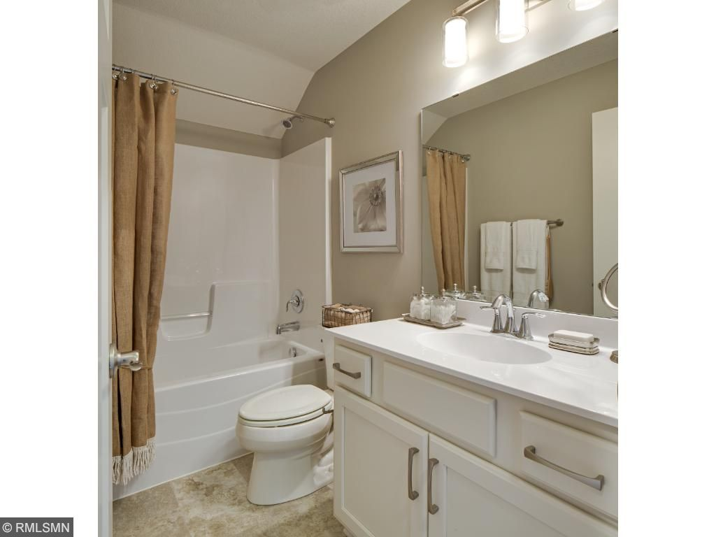 2nd Floor Bath; for illustrative purposes only. Photos are from our model home.