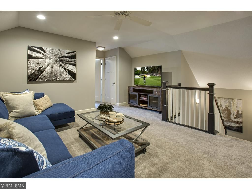 2nd Floor Loft; for illustrative purposes only. Photos are from our model home.