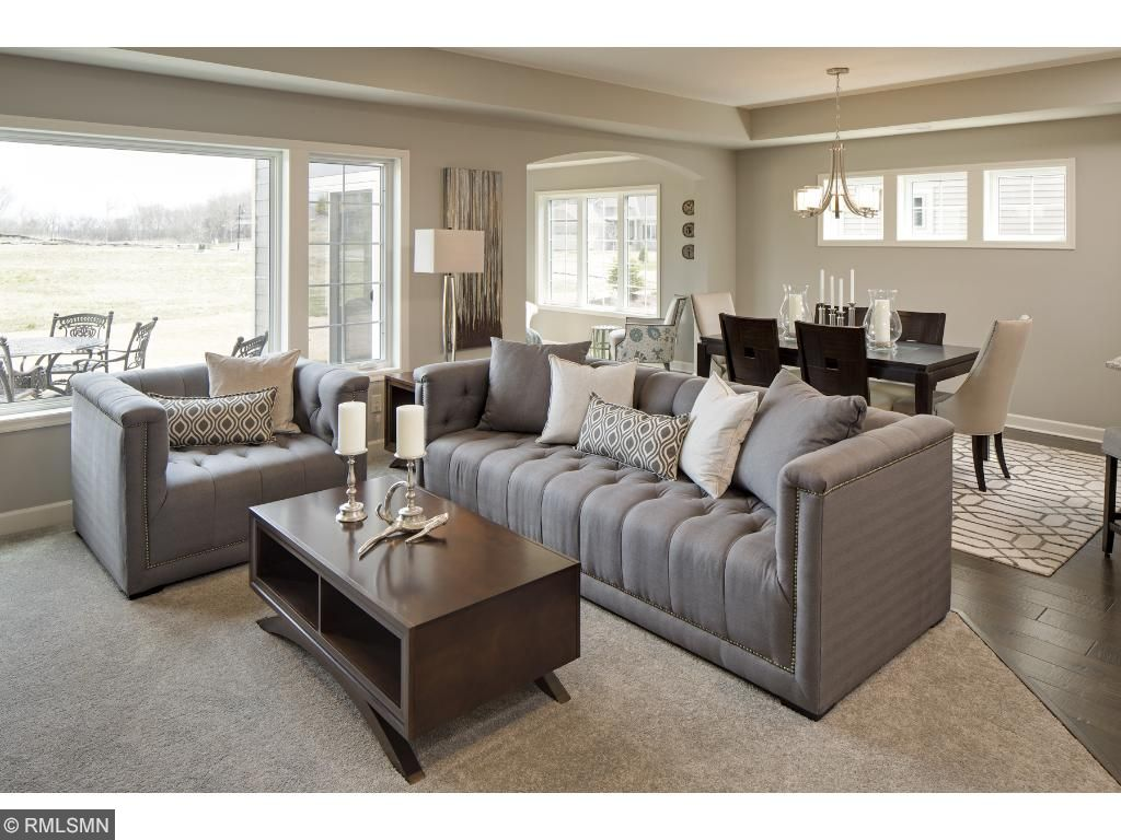 Family Room/Dining Room; for illustrative purposes only. Photos are from our model home.