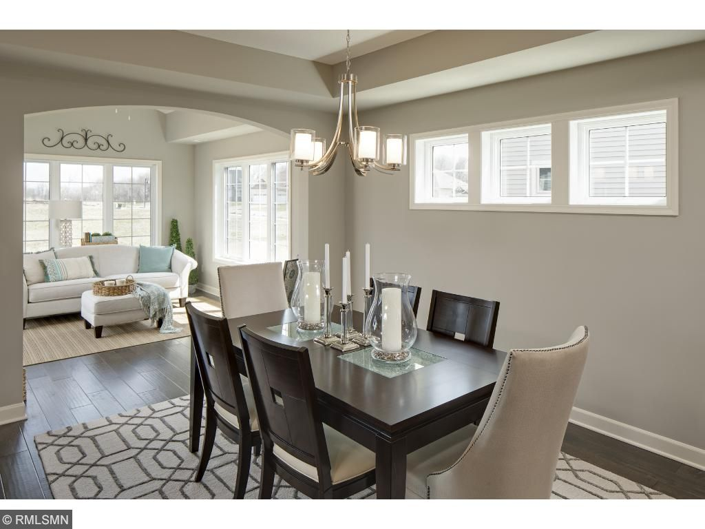 Dining Room/Sun Room; for illustrative purposes only. Photos are from our model home.