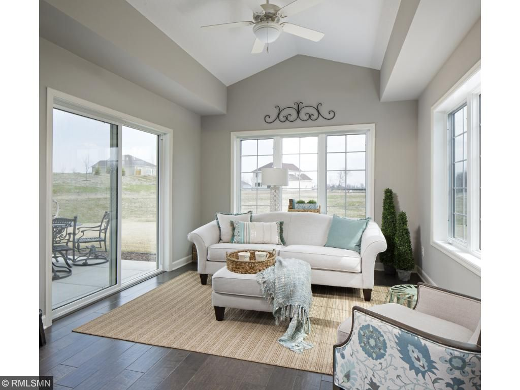 Sun Room; for illustrative purposes only. Photos are from our model home.