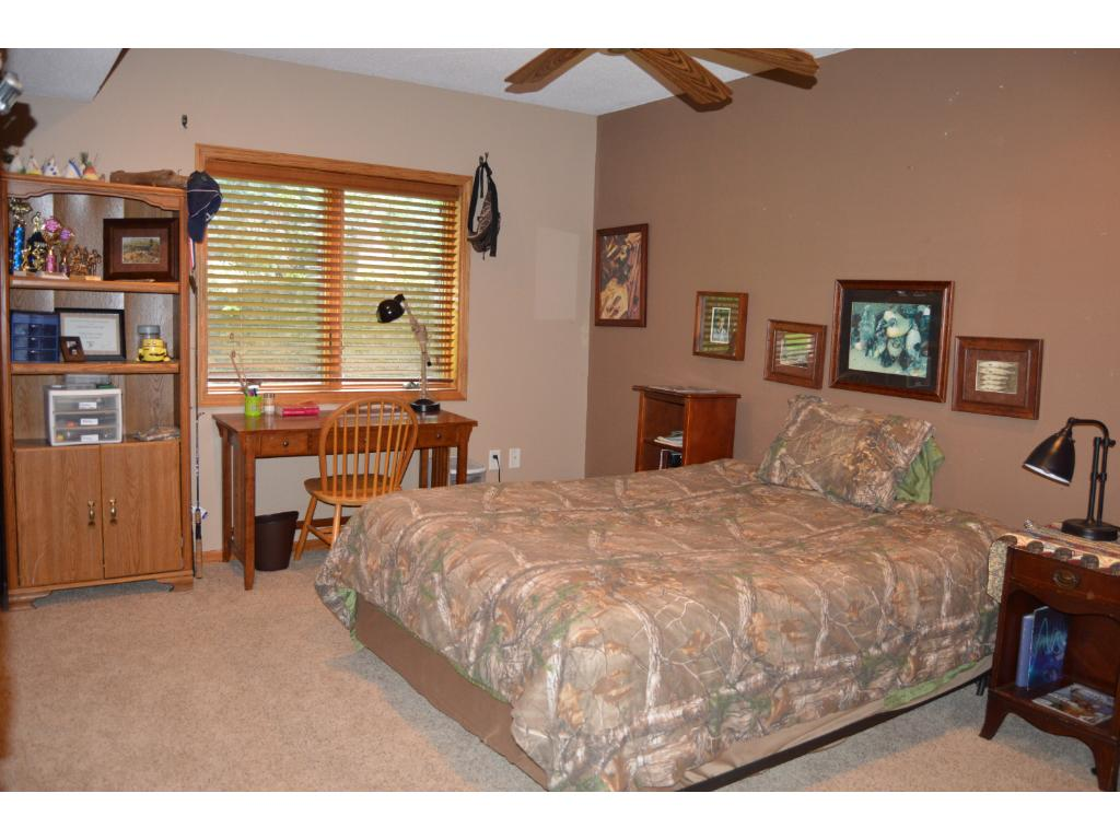 Another lower level bedroom that has plenty of room.