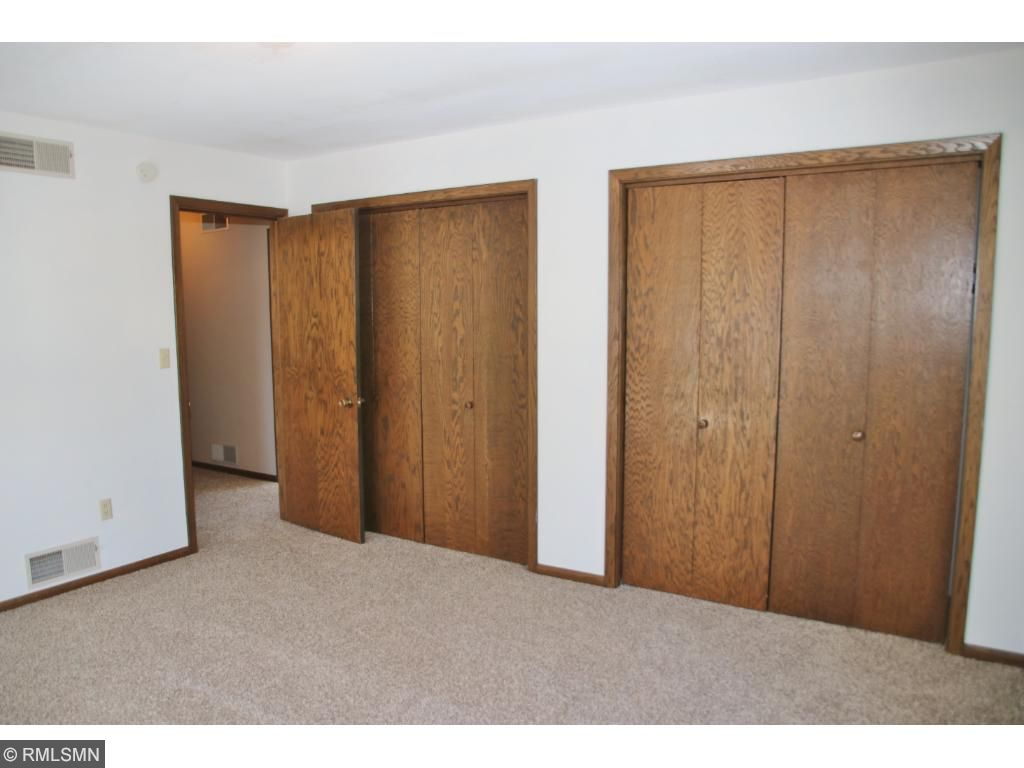 Another view of the double closets in bedroom 2.Bedroom 3 is similar with one closet.