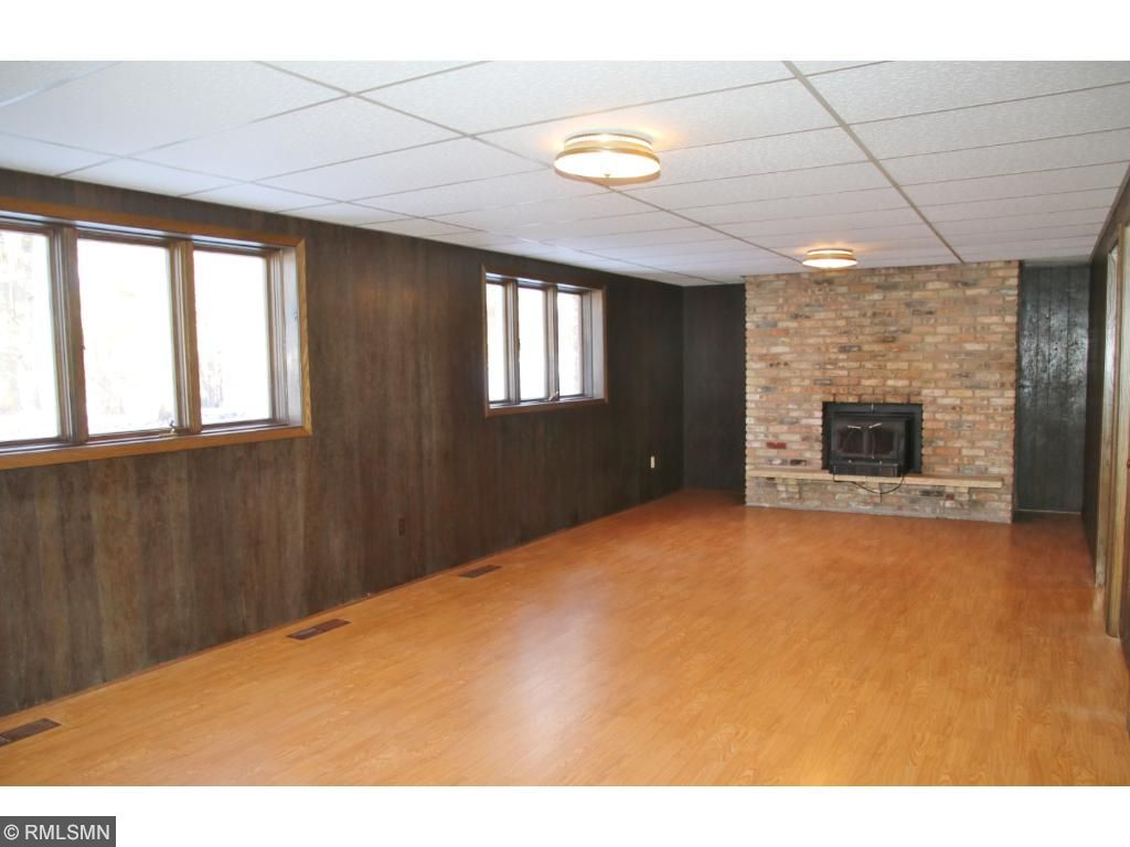 Lower level family room has yet another fireplace!  Lower level has heat runs in the floor.