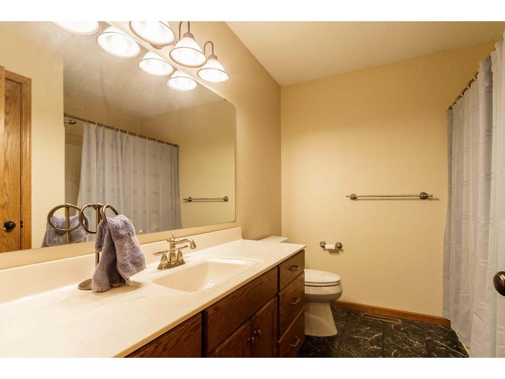 Master suite is very spacious with large walk-in closet and ensuite.  Beautiful views overlooking the back yard and creek.