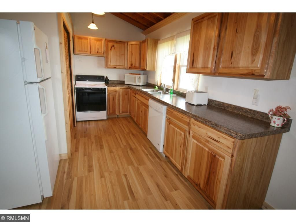 The Kitchen has been completely remodeled.  Brand new flooring compliments the abundance of new cabinetry.