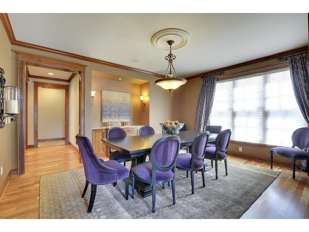 Enjoy special evenings with friends and family in the spacious Dining Room with built-in Buffet.