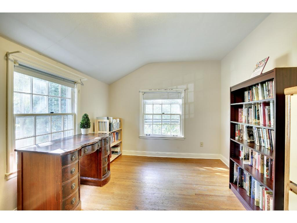 This Bedroom boasts of hardwood floors and is conveniently located just steps from the full bath. Perfect to be used as a home office or a library space.