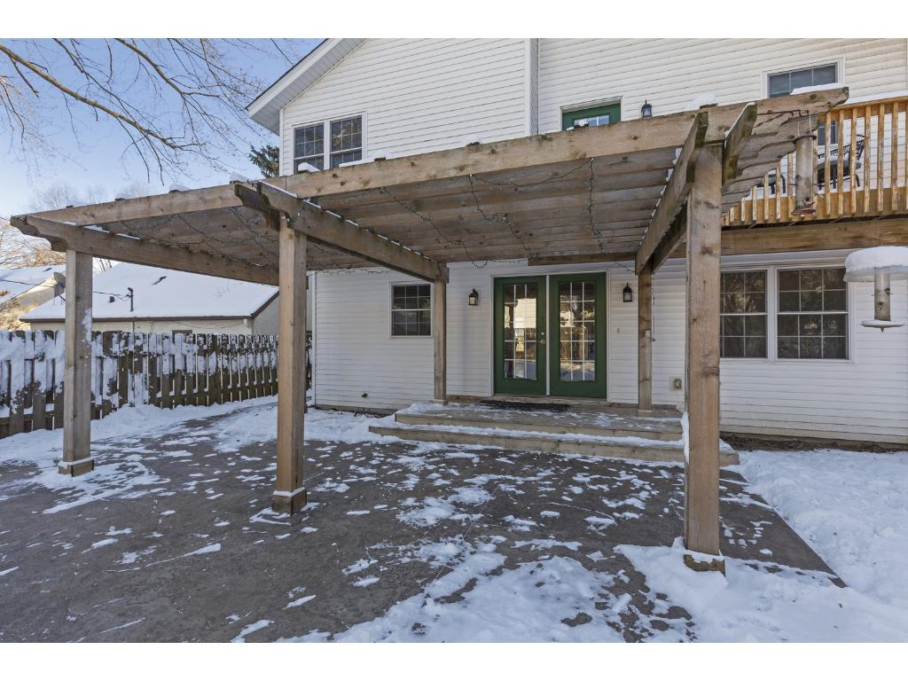 The deck and patio are great for entertaining guests by the grill.