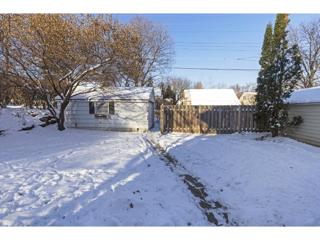 Enjoy this beautiful yard, fenced in for extra privacy.