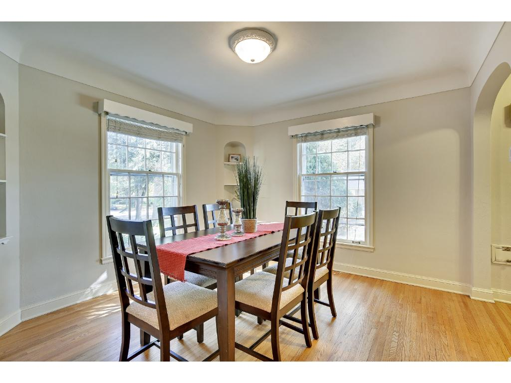 Perfect for entertaining! This formal Dining Room is just steps from the main entry creating convenient access to welcome your guests!