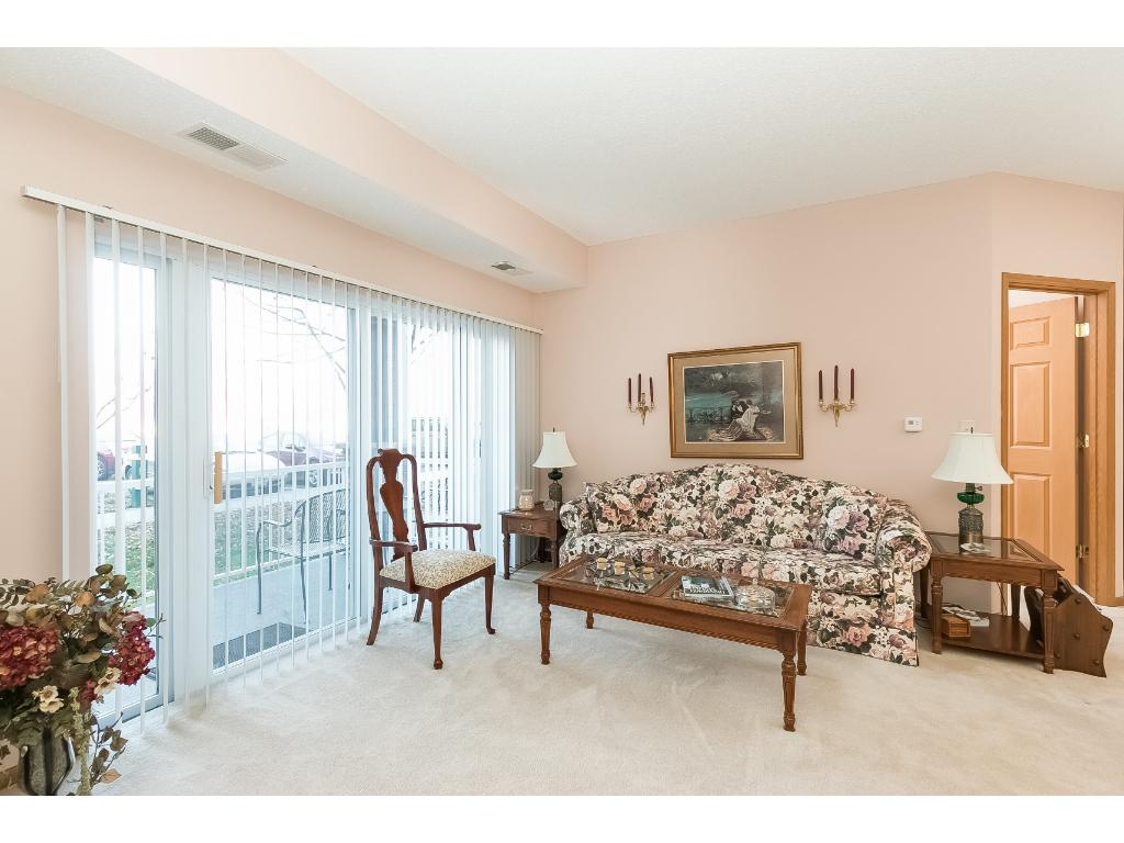 Lots of soft natural light through the sliding patio doors. You also get your own private fenced in patio to enjoy.