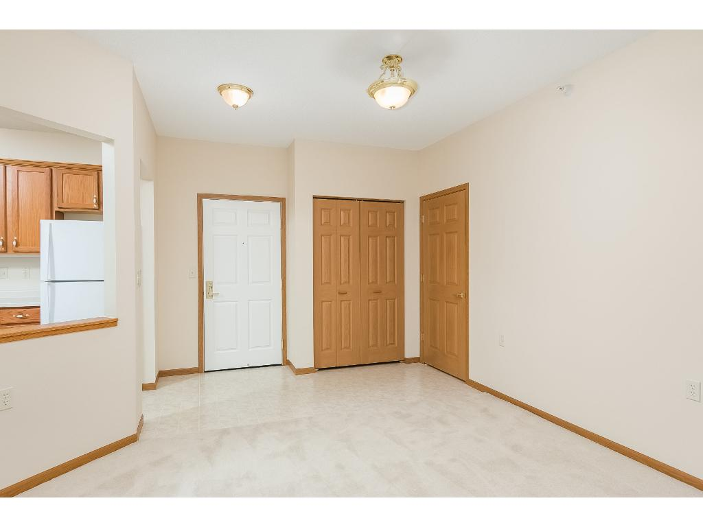 Unit 309 has been re carpeted and painted and is ready for your personal touches.  There is vinyl flooring just inside the foyer and provides an easy path between the kitchen on the left and laundry room on the right.